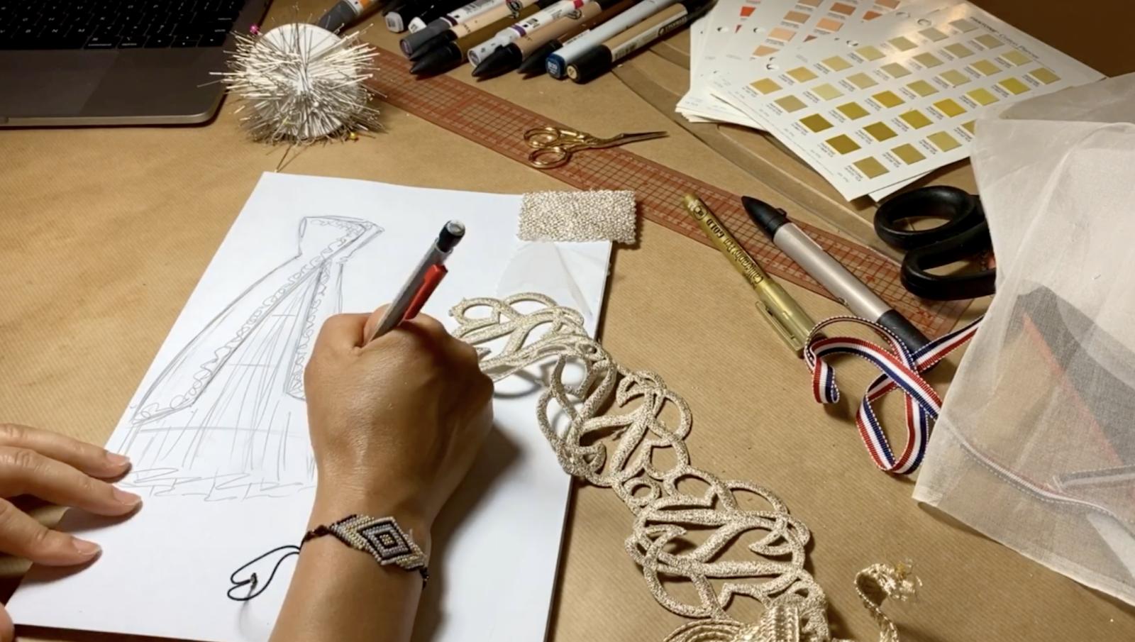 creation robe sur mesure Paris